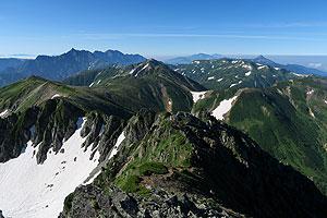 水晶岳からの眺め