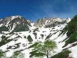 残雪の北アルプス