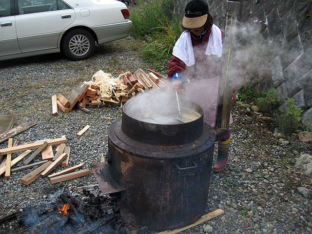 醤油搾り −醤油を加熱−