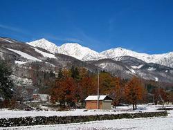 白馬山麓冬景色