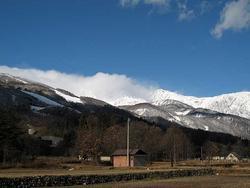 銀色の白馬三山
