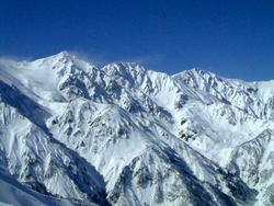 厳冬期の白馬三山